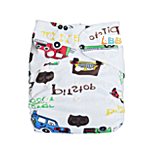 LBB(TM) Baby Resuable Washable Pocket Cloth Diaper,Multi Cars
