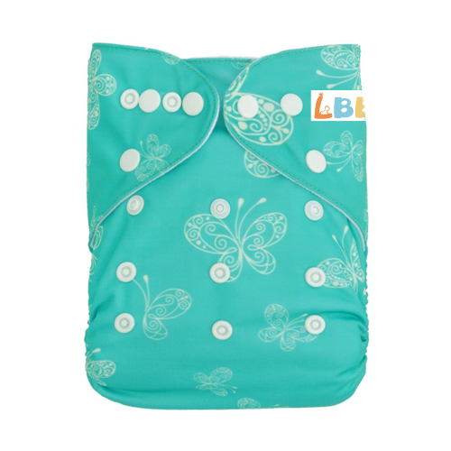 LBB(TM) Baby Resuable Washable Pocket Cloth Diaper,Butterflies