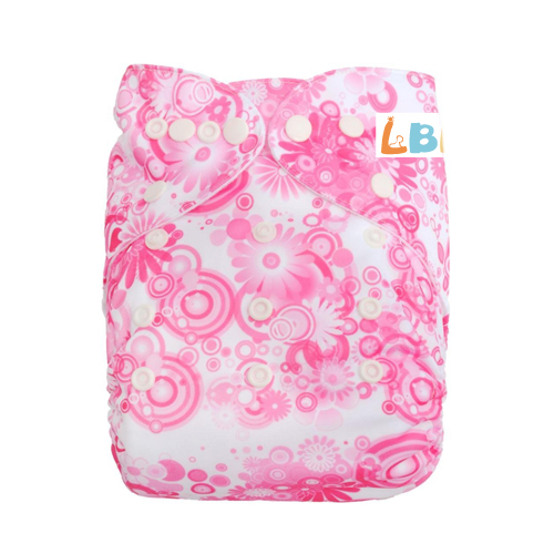 LBB(TM) Baby Resuable Washable Pocket Cloth Diaper,Pink Flowers
