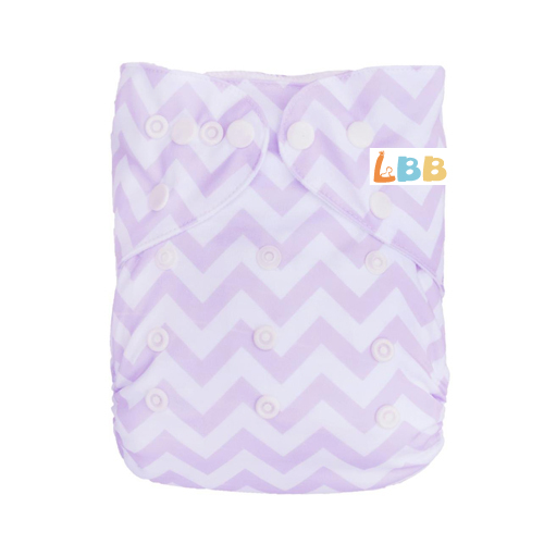 LBB(TM) Baby Resuable Washable Pocket Cloth Diaper,Purple Stripes