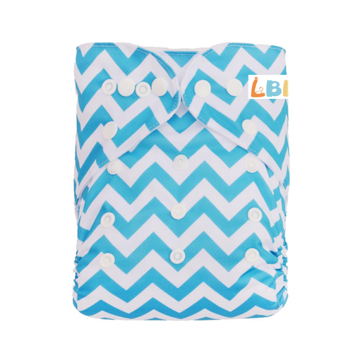 LBB(TM) Baby Resuable Washable Pocket Cloth Diaper,Blue Stripes