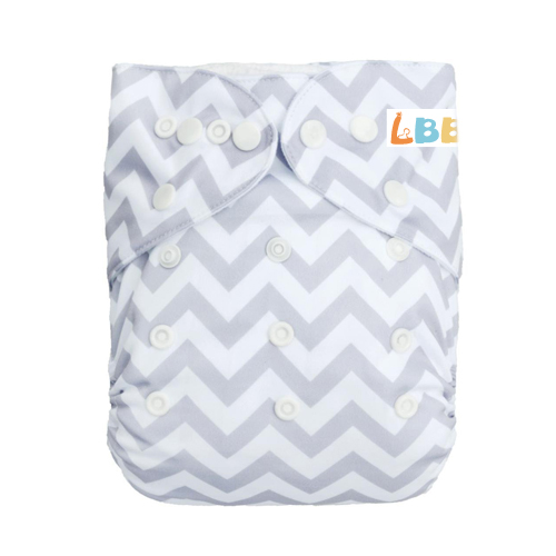 LBB(TM) Baby Resuable Washable Pocket Cloth Diaper,Grey Stripes