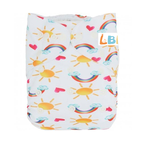 LBB(TM) Baby Resuable Washable Pocket Cloth Diaper, Sun