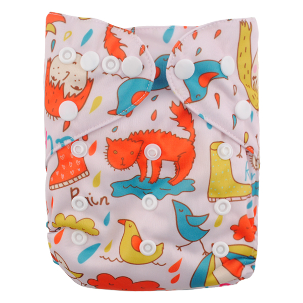 LBB(TM) Baby Resuable Washable Pocket Cloth Diaper,Cat And Chicken