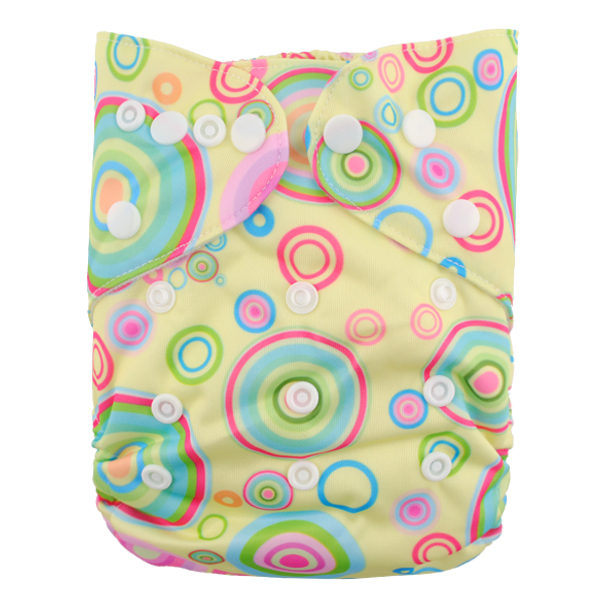 LBB(TM) Baby Resuable Washable Pocket Cloth Diaper,Multicolor Bubble