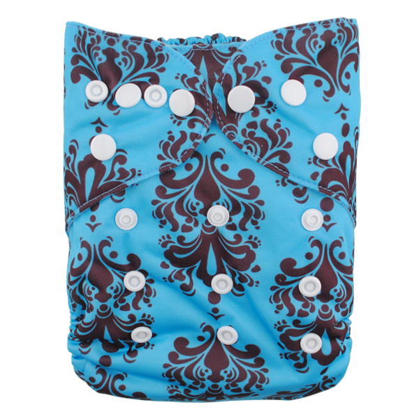 LBB(TM) Baby Resuable Washable Pocket Cloth Diaper,Blue And Black